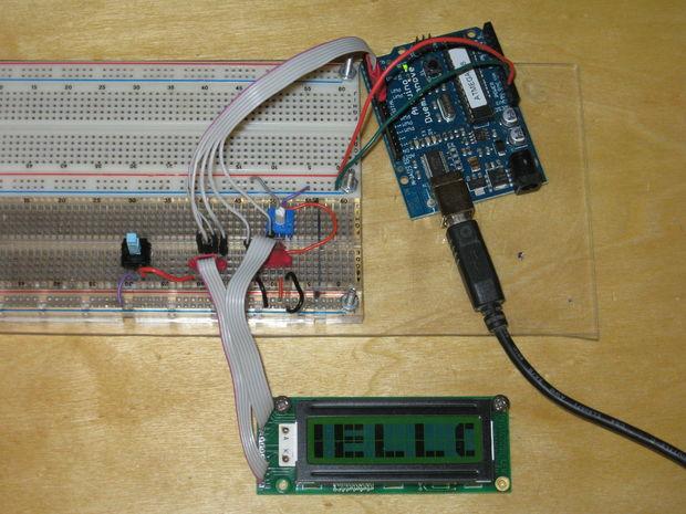 4 LCD displays on 1 Arduino hackmeisterdk